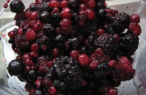 fructe in blender